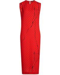 Haider Ackermann - Printed Dress With Slit - Lyst