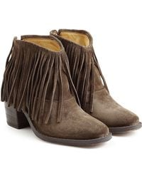 Fiorentini + Baker - Ramones Fringed Suede Ankle Boots - Lyst