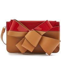 Delpozo - Bow Leather Clutch - Lyst
