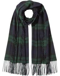Burberry - Oversized Wool Scarf - Lyst