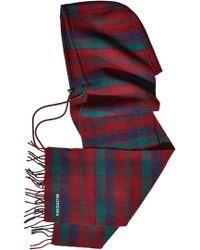 Balenciaga - Tartan Wool Hood And Scarf - Lyst