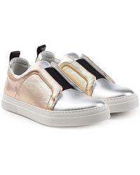 Pierre Hardy - Metallic Leather Slip-on Sneakers - Lyst