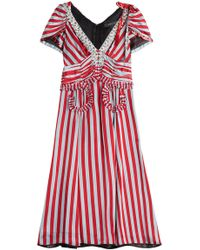 Marc Jacobs - Striped Dress With Sequin And Crystal Embellishment - Lyst