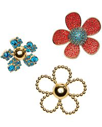 Marc Jacobs - Embellished Daisy Brooch Set - Lyst