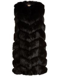 Yves Salomon - Fox Fur And Leather Vest - Lyst