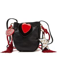 Philosophy Di Lorenzo Serafini - Leather Shoulder Bag With Charms - Lyst