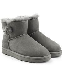 UGG - Suede Boots With Shearling Lining - Lyst