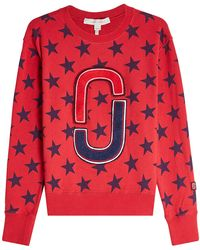 Marc Jacobs - Printed Cotton Sweatshirt With Appliqués - Lyst