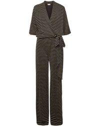 By Malene Birger - Zhou Striped Wrap Jumpsuit - Lyst
