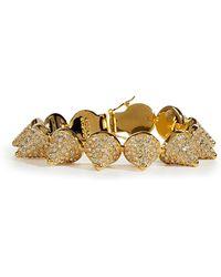 Eddie Borgo - Gold Crystal Encrusted Pave Cone Crystal Bracelet - Lyst
