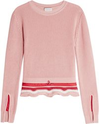 Moncler | Knit Pullover With Drawstring Waist | Lyst