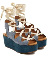 See By Chloé - Espadrille Wedge Sandals - Lyst