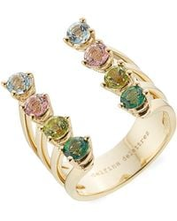 Delfina Delettrez - 9kt Gold Ring With Topaz And Peridot - Lyst