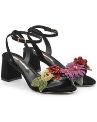 Sophia Webster - Lilico Glitter Suede Sandals - Lyst