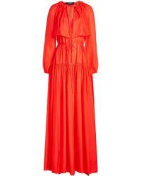 Paule Ka - Silk Chiffon Dress - Lyst