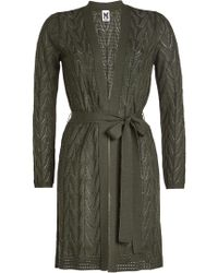M Missoni - Crochet Belted Cardigan With Wool - Lyst