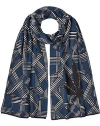 Lucien Pellat Finet - Printed Cotton Scarf With Cashmere - Lyst