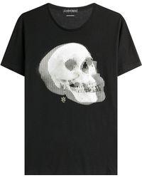 Alexander McQueen | Printed Cotton T-shirt | Lyst