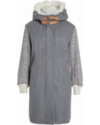 Rag & Bone - Coat With Wool And Shearling - Lyst