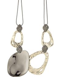 Alexis Bittar - 10kt Gold Necklace With Pyrite And Crystals - Lyst