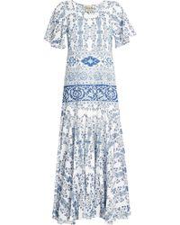 Sea - Printed Cotton Maxi Dress - Lyst