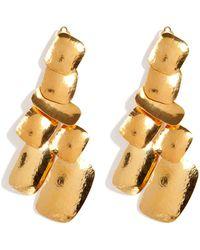 Herve Van Der Straeten - Hammered Gold-plated Yucata Earrings - Lyst