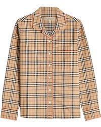 Burberry - Printed Cotton Shirt - Lyst