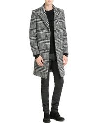 Carven - Checked Coat With Virgin Wool - Lyst