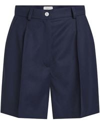 Natasha Zinko - Wool Gabardine Pleated Shorts - Lyst