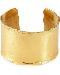 Alberta Ferretti - Gold-tone Cuff Bracelet - Gold - Lyst