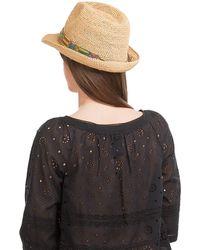 Florabella - Raffia Hat With Bead Embellishment - Lyst