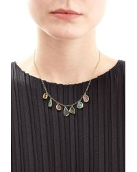 Pippa Small - Tumbled Seven Stone 18kt Gold Necklace With Tourmaline - Lyst
