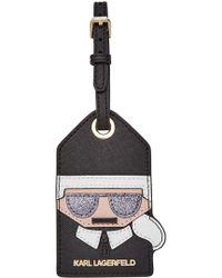 Karl Lagerfeld - Leather Luggage Tag - Lyst