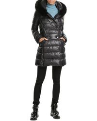 Duvetica - Down Coat With Fox Fur-trimmed Hood - Lyst