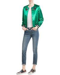 Tara Jarmon - Embellished Satin Baseball Jacket - Lyst