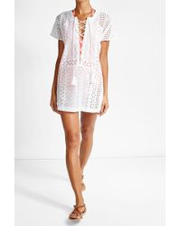 OndadeMar - Cotton Mini Dress - Lyst