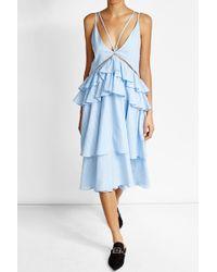 Lala Berlin | Cotton Dress With Ruffles | Lyst