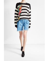 Ksenia Schnaider - Denim Cut-off Shorts - Lyst
