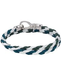 Tod's - Braided Leather Wrap Bracelet - Lyst