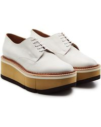 Robert Clergerie - Chaussures à lacets à plateforme en cuir Barbara - Lyst 2b05c75f56eb