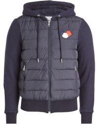 Moncler - Down-filled Jacket With Cotton Sleeves And Hood - Lyst