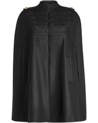 RED Valentino - Embroidered Cape With Wool - Lyst