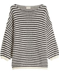 American Vintage - Striped Pullover With Cotton And Linen - Lyst