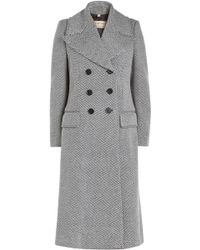 Burberry - Aldermoor Herringbone Coat With Virgin Wool - Lyst