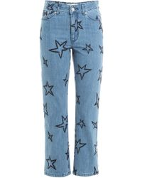 Être Cécile - Star Embroidered Cropped Jeans - Lyst