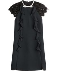 Giambattista Valli - Dress With Ruffles And Lace Sleeves - Lyst