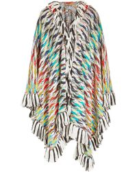 Missoni - Fringed Wool Cape With Cashmere, Alpaca And Mohair - Lyst