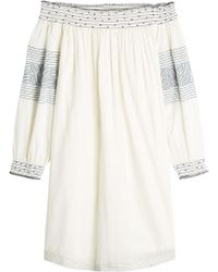 Velvet - Cotton Off-the-shoulder Dress - Lyst
