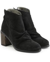 Fiorentini + Baker - Suede Ankle Boots With Embellished Heel - Lyst