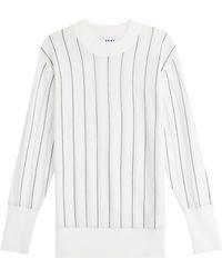 DKNY - Striped Merino Wool Pullover - Lyst